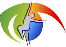 Logo di cura dell'occhio Fotografia Stock Libera da Diritti