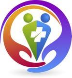 Logo di cura delle coppie Fotografia Stock