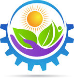 Logo di cura di agricoltura illustrazione di stock