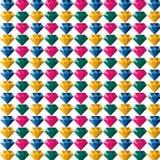 Logo di Diamond Jewelry Gem Colorful Polygon Fotografie Stock Libere da Diritti