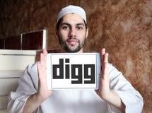Logo di Digg Fotografia Stock Libera da Diritti