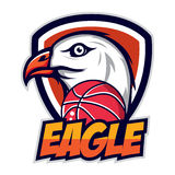 Logo di Eagle per una squadra di pallacanestro royalty illustrazione gratis