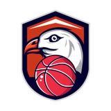 Logo di Eagle per una squadra di pallacanestro illustrazione vettoriale