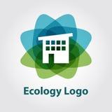 Logo di ecologia, casa di tecnologia Immagini Stock