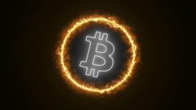 Logo di energia di Bitcoin Immagine Stock Libera da Diritti