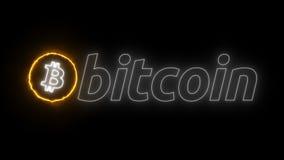 Logo di energia di Bitcoin Immagine Stock