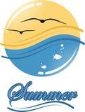 Logo di estate Fotografie Stock