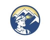 Logo di estrazione mineraria illustrazione vettoriale