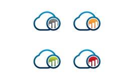 Logo di finanza della nuvola illustrazione di stock