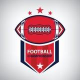 Logo di football americano di sport Stile americano Fotografia Stock