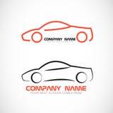 Logo di forma dell'automobile Fotografia Stock