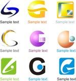 Logo di G della lettera Fotografie Stock