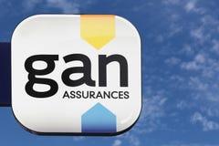 Logo di Gan su una parete Fotografia Stock