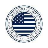 Logo di Giorno dei Caduti Immagini Stock Libere da Diritti