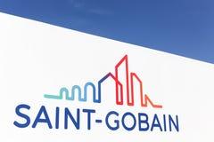 Logo di Gobain del san su una parete Fotografia Stock