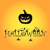 1 logo di Halloween del blackpumpkin della zucca immagini stock libere da diritti