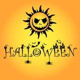 1 logo di Halloween del girasole fotografie stock