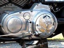 Logo di Harley-Davidson su un motore Immagini Stock Libere da Diritti