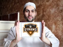 Logo di Houston Dynamo Soccer Club fotografia stock