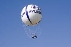 Logo di Hyundai sul pallone Fotografia Stock Libera da Diritti