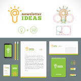 Logo di idee del bollettino e modello di identità Immagini Stock