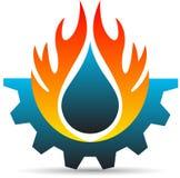 Logo di industria Fotografia Stock Libera da Diritti