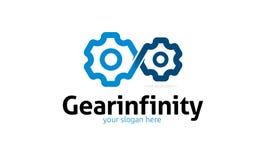Logo di infinito dell'ingranaggio Fotografia Stock
