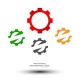 Logo di ingegneria industriale illustrazione di stock