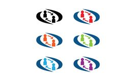 Logo di interazione dell'utente illustrazione di stock