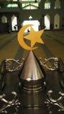 Logo di Islam nella moschea degli stretti del Malacca Immagini Stock Libere da Diritti