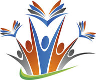Logo di istruzione delle coppie Fotografia Stock Libera da Diritti