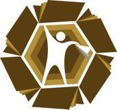 Logo di istruzione di successo Immagine Stock