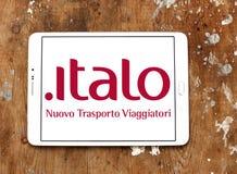 Logo di Italo Nuovo Trasporto Viaggiatori Fotografie Stock