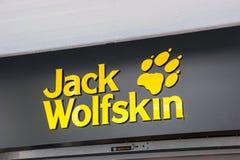 Logo di Jack Wolfskin fotografie stock libere da diritti