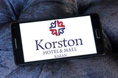 Logo di Kazan dell'hotel e del centro commerciale di Korston Fotografia Stock