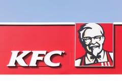 Logo di KFC su una facciata Fotografia Stock Libera da Diritti