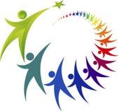 Logo di lavoro di squadra Fotografie Stock