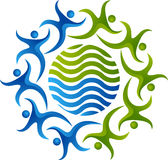 Logo di lavoro di squadra Fotografia Stock
