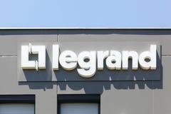 Logo di Legrand su una costruzione Immagini Stock