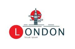 Logo di Londra scena di Big Ben Fotografia Stock Libera da Diritti