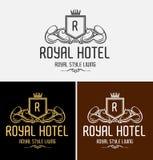 Logo di lusso reale della cresta Fotografia Stock