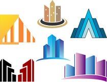 Logo di lusso semplice di Skycrapers Fotografie Stock Libere da Diritti