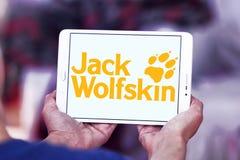 Logo di marca dell'abbigliamento di Jack Wolfskin Immagine Stock Libera da Diritti