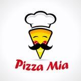 Logo di Mia della pizza Immagini Stock