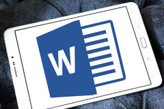 Logo di Microsoft Word Fotografie Stock Libere da Diritti