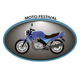 Logo di Moto su un fondo bianco illustrazione di stock