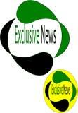 Logo di notizie esclusive Fotografie Stock Libere da Diritti