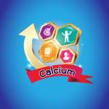 Logo di Omega o del calcio e della vitamina per i prodotti dei bambini illustrazione di stock