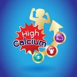 Logo di Omega o del calcio e della vitamina per i prodotti dei bambini royalty illustrazione gratis