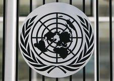 Logo di ONU Immagini Stock